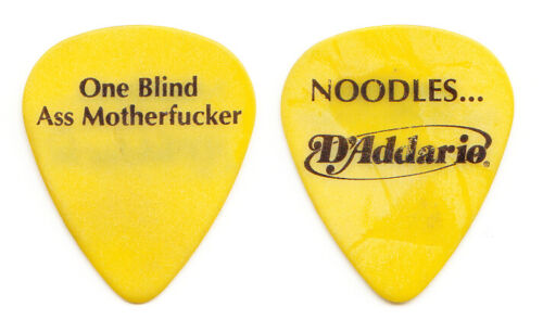 Offspring Noodles One Blind @ss Motherf***er Yellow Guitar Pick - 2000 Tour