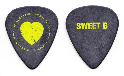 Keith Urban Brad Rice Sweet B Black/Yellow Guitar Pick - 2008 Love Pain Tour