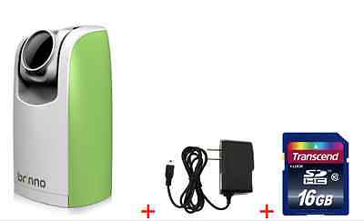 Digital Camera Power Supply - Brinno TLC200 Green Time Lapse HD Camera + Free Wall Power Supply + Free 16G SD