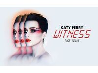 3 Katy Perry witness tour tickets Sheffield arena STANDING