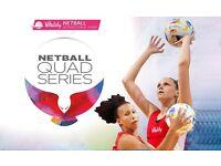 2 tickets to England v New Zealand Netball