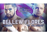 2 tickets for Tony Bellew vs BJ Flores World Title Fight in Liverpool