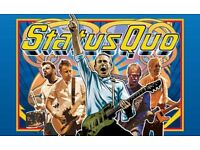 2x standing tickets STATUS QUO Middlesbrough Town Hall 21 July