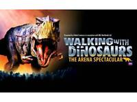 3x Walking with Dinosaurs Tickets 8th August