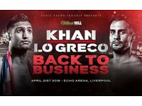 Amir Khan vs Phil Lo Greco - Pair of Tickets Lower Tier
