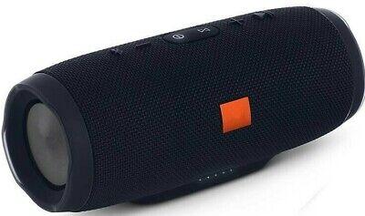 New CHARGE 3+ Portable Waterproof Black Bluetooth Speaker Wireless Bass USA