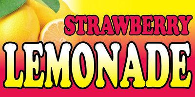 STRAWBERRY LEMONADE Vinyl Banner Sign Concession Food Drink 2X4 ft  pb - Concessions Banner