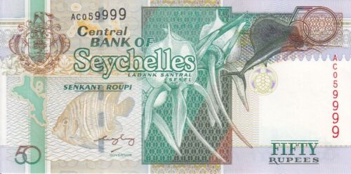 SEYCHELLES BANKNOTE  P.38-9999  50  RUPEES  UNCIRCULATED