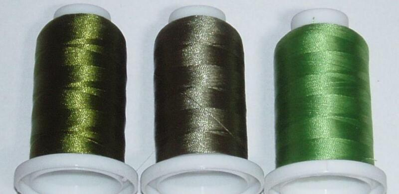 3 SPOOLS OF OLIVE SHADES FISHING ROD WINDING THREAD  FREE SHIPPING!!