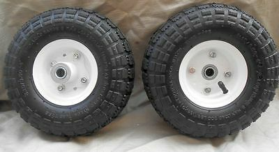 2 Tires 10 New Steel Air Pneumatic Hand Truck Dolly Wagon Wheel