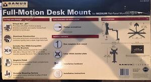Sanus Systems MD115-G1 Full-Motion Desk Mount for 7-30-Inch Medi