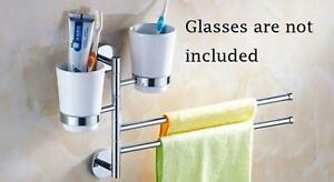 Revolve Toothbrush Cup Holder Towel Rack(020040)