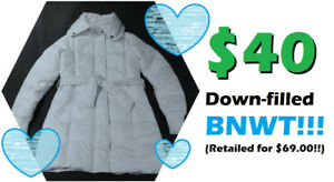 PRETTY Down-Filled Coat by SUZY SHIER (Size S) -- BNWT -- $40 !!