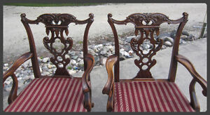 Antique -:- Chippendale Style Walnut Dining Room Set