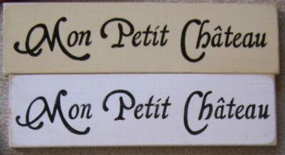 MON PETIT CHATEAU Sign French Paris My Little Castle Parisian Home Decor Plaque (Parisian Decor)