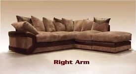 ❤▓▒░◄Left/Right Hand Orientation◄▓▒░❤Brand New Italian Dino Jumbo Cord Corner or 3 and 2 Seater Sofa