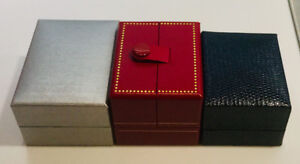 3 JEWELLERY SHOWCASE DISPLAY GIFT BOXES - 1 RING, 2 EARRING