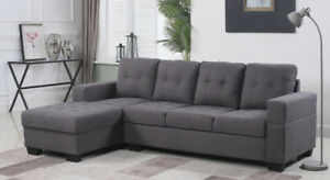Diamond BG Sectional Sofa Grey / Brown $499 Sofa sale Toronto