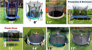 New Trampoline & Enclosure Winter  Sale  8 Sizes,10 yr Warranty