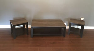 Coffee table with matching side tables