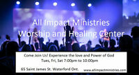 All Impact Ministries worship and healing Center now open!
