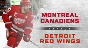 HOME OPENER✯✯Montreal Canadiens vs. Detroit Red THU Oct 10 7PM✯✯