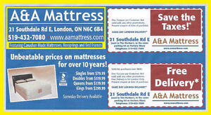 *Queen &*King Mattress or Boxsprings! Save the TAX&*FreeDelivery London Ontario image 9