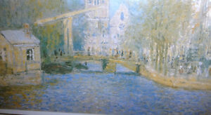 "Claude Monet ""Canal In Amsterdam"" Painted 1874 Art Print Stratford Kitchener Area image 6"