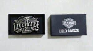 """Harley-Davidson """"Live to Ride"""" Belt Buckle (New in box)"""