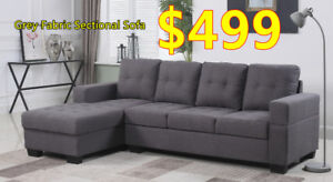 Brand new Grey fabric sectional sofa on sale!!