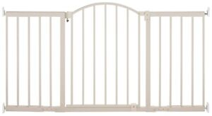 Metal white expandable baby gate