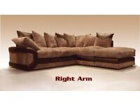 3+2 Seater Or Corner Suit In Black & Grey / Brown & beige In Fabric & Leather