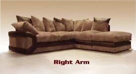 🔥💗🔥BOTH HAND SIDES AVAILABLE🔥🔥New Double Padded Dino Jumbo Cord Corner / 3+2 Sofa L/R HAND SIDE