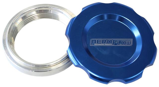 "Aeroflow Low Profile Billet Aluminium Filler Cap & Bung 2-1/2"" Blue"