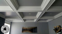 DONT REMOVE YOUR POPCORN CEILINGS! COFFERED CEILINGS INSTEAD!