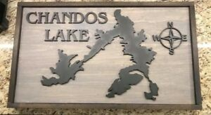 3D Laser Cut Wood Wall Art- Lake Designs