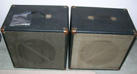 Two Vintage Traynor 1x15 Speaker Cabs
