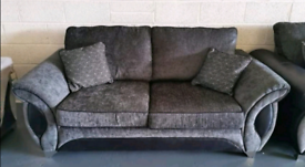 Dfs charcoal fabric sofa bed