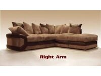 **AMAZING NEW COLOURS** NEW DINO JUMBO CORD CORNER OR 3 + 2 SEATER SOFA*CALL NOW AND BOOK YOUR ORDER