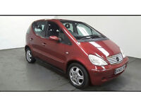 2002(02)MERCEDES A CLASS A160 AUTO MET RED,VERY LOW MILES(69K),FSH,CLEAN CAR,GREAT VALUE