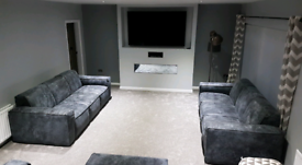 DFS 3/4 seater sofa grey leather