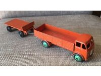Early dinkytoys truck with trailer all original