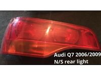 2006/2010 Audi q7 n/s rear tail light
