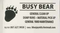 SNOWBLOWING •DUMP RUNS •GENERAL CLEANING