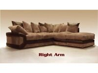 🛑⭕GUARANTEED BEST PRICE🛑⭕ Brand New Italian Jumbo Cord Dino Corner And 3 + 2 Seater Sofa Set