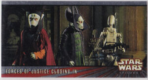 STAR WARS TOPPS EPISODE 1 # 1 WIDEVISION C8 FORCES OF JUSTICE