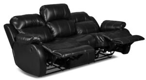 Leather-Look Fabric Reclining Sofa/Chair (2 pcs) Awesome Offer