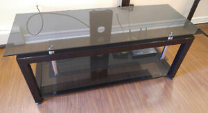 TV/Entertainment Stand - Glass Shelves