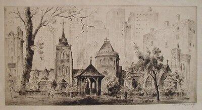 Hoppe Old St.Patricks Church New York Cathedrale Manhatten skyline Wolkenkratzer (St Patricks Kunst)