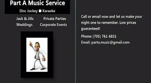 Part A Music Service- DJ & Karaoke Peterborough Peterborough Area image 1